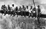Lunch atop a Skyscraper - First things first, this picture isn't photoshopped. Taken on 29th September, 1932, it shows 11 construction workers sitting on the 69th floor of the RCA building, now GE building, New York and having their lunch. All the men in the picture have been identified by their family.