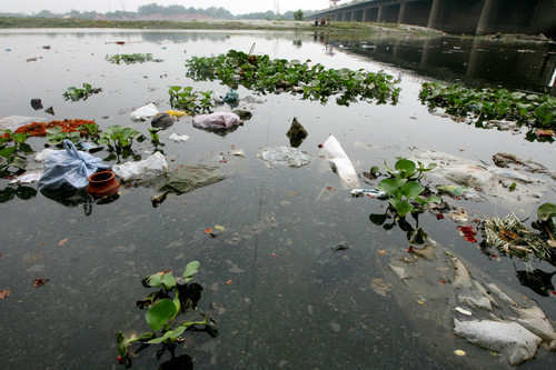 TO GO WITH INDIA-ENVIRONMENT-RIVER-POLLU
