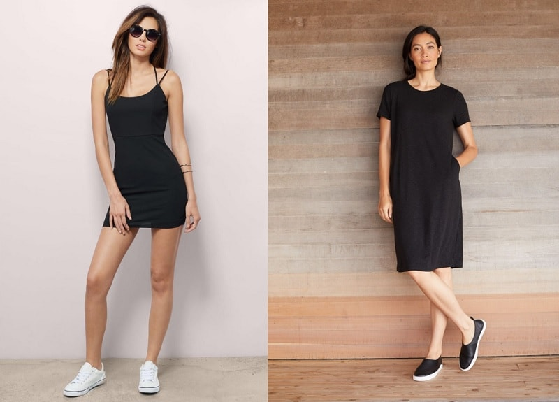 sport shoes for small black dress