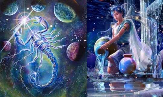 Aquarius and scorpio