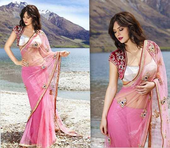 baby-pink-saree