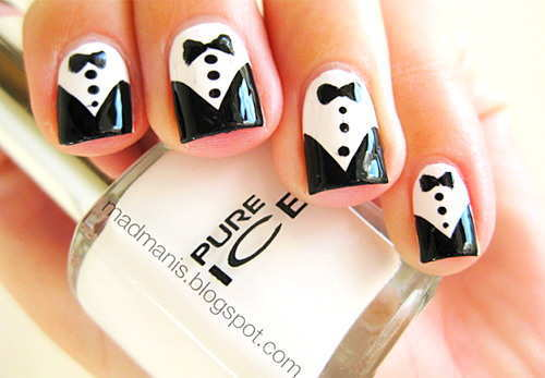 30 Prettiest Black And White Nail Art Designs Just For You