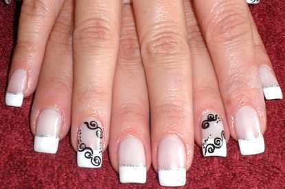 black-and-white-french-nail-art