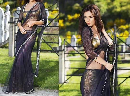 black-bling-saree
