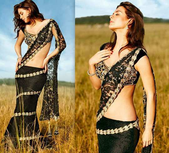 black-saree