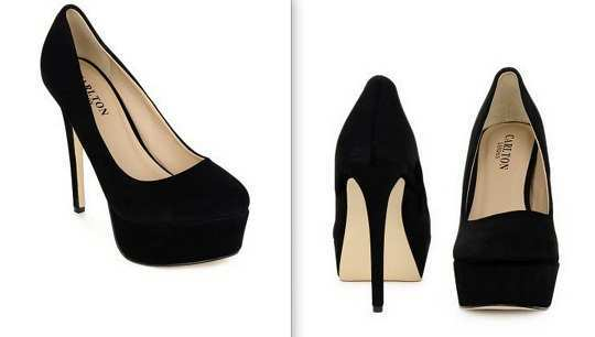 carlton-london-black-pumps-myntra