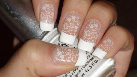 lace-french-nails