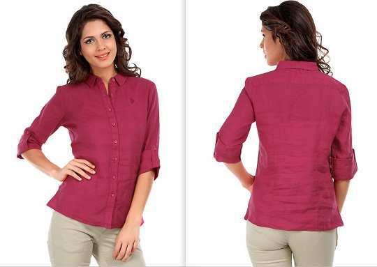 pink-linene-shirt-myntra