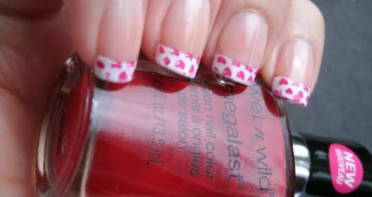 valentine-french-nails