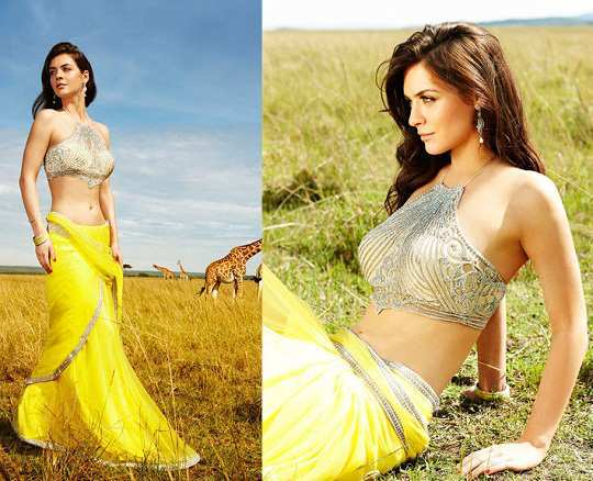 yellow-saree