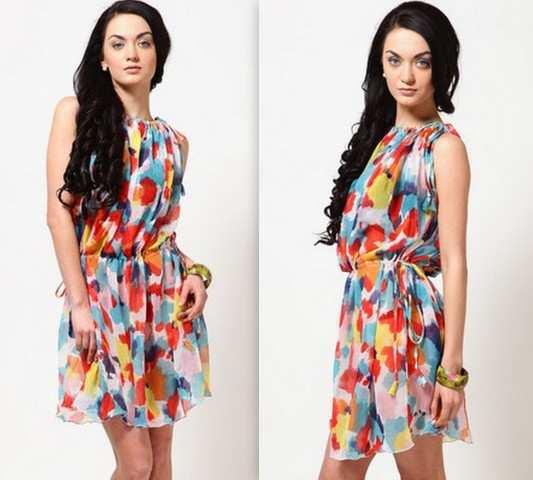 Color Splash Print Dress