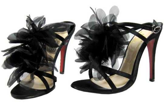 black-chiffon-heels