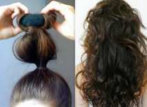 how-to-curl-hair-using-sock-bun