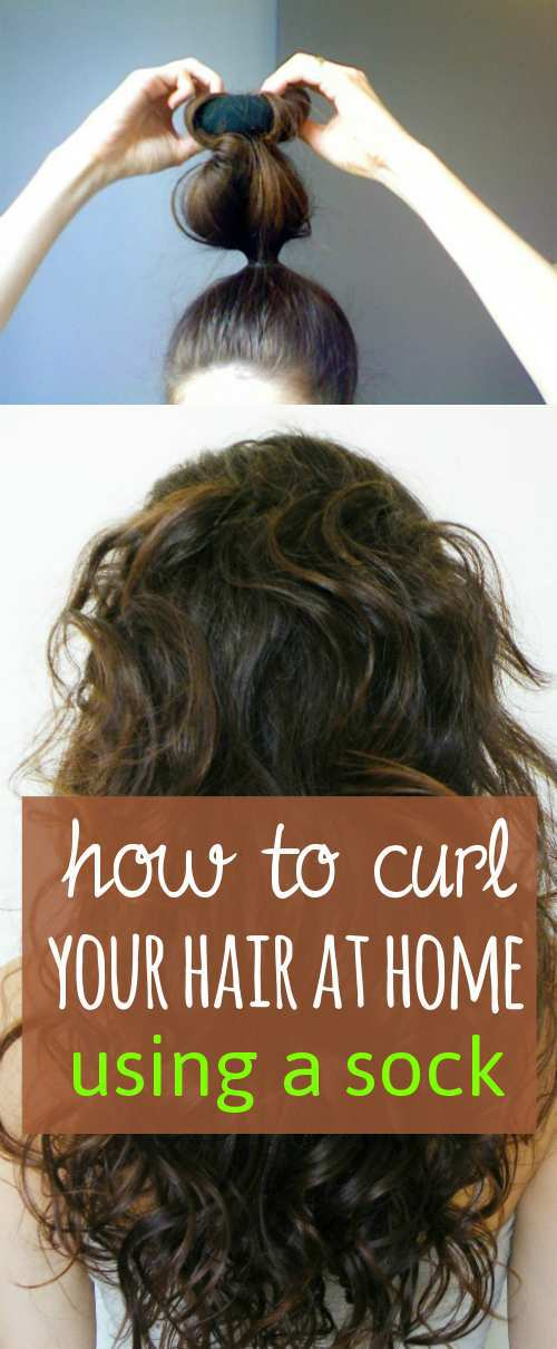 how-to-curl-your-hair-using-a-sock-bun
