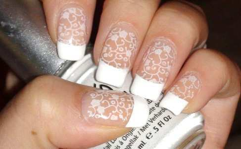 lace-french-nail-art