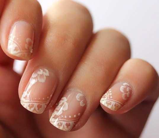 30 Astonishingly Pretty Lace Nail Art Designs