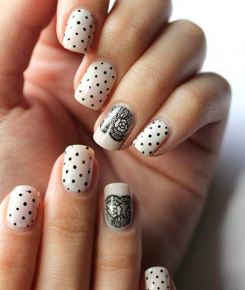 polka-and-lace-nail-art