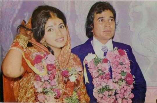 Dimple-Kapadia-and-Rajesh-Khanna-wedding-pic