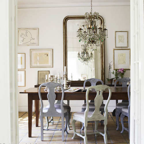 10 mirror ideas that will brighten up your house for Dining room mirror decorating ideas