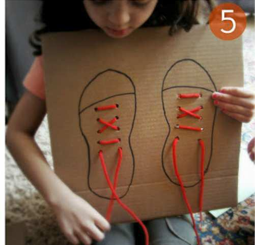 Shoe-Lace-DIY-Craft-with-Cardboard-step-5