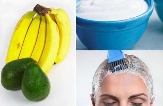 damaged-hair-home-remedies-banana-yogurt-avocado