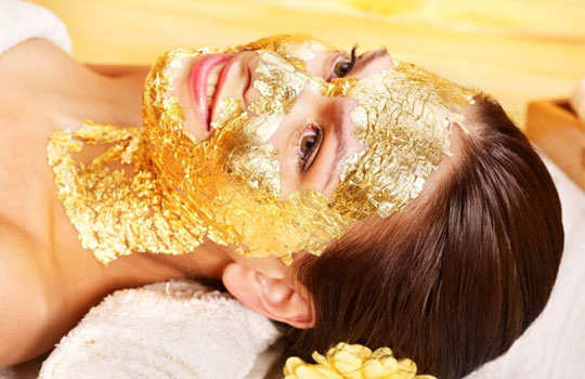 Fantasy gold facial video was