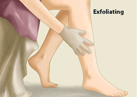 ingrown-hair-on-legs-home-remedies-exfoliating