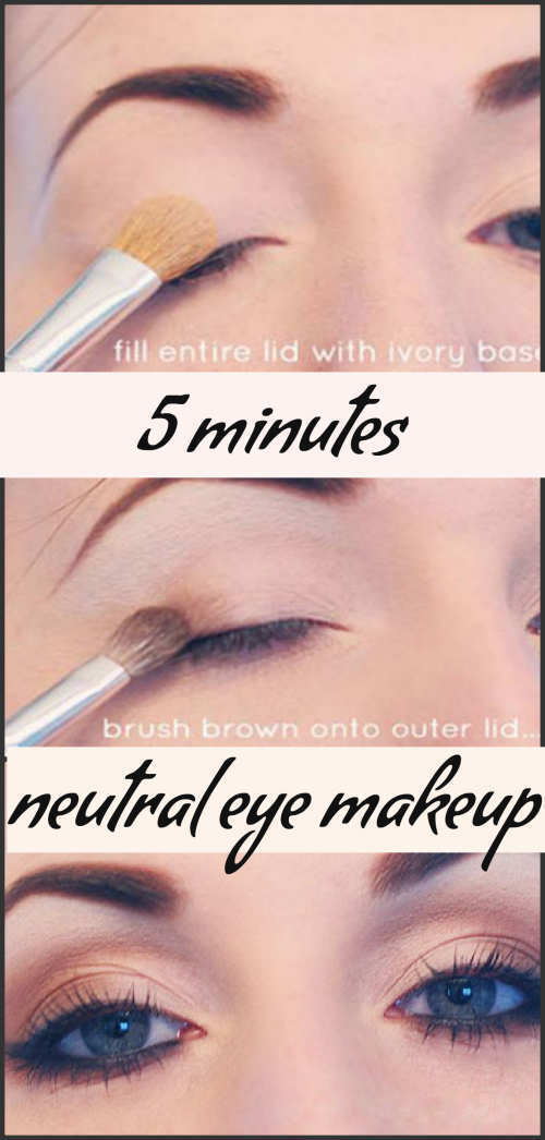 5 Minutes Neutral Eye Makeup Step By Step Tutorial