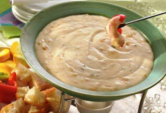 Swiss-Cheese-Fondue
