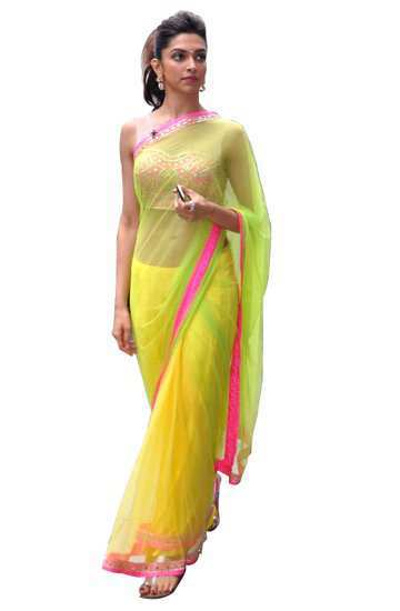 deepika_padukone_neon_sari