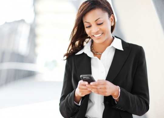Business-Woman-Using-Phone