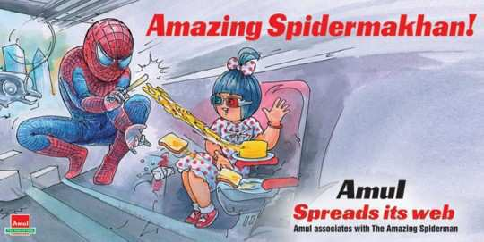 amul-ad-spiderman