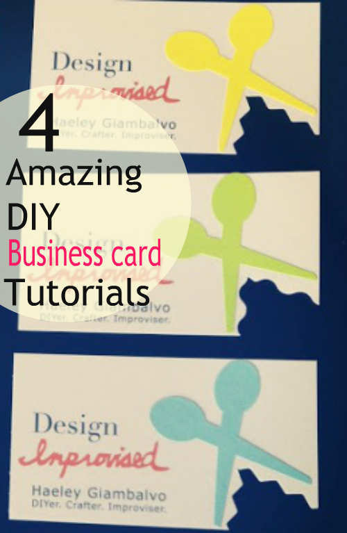 4 amazing diy business card tutorials reheart Choice Image