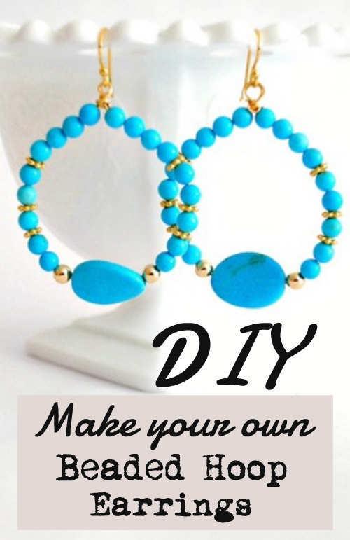 Diy Make Your Own Chunky Beaded Hoop Earrings