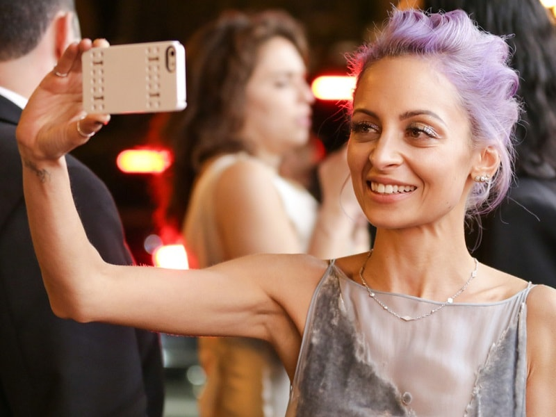 selfie picture from Hollywood celebrity Nicole Richie