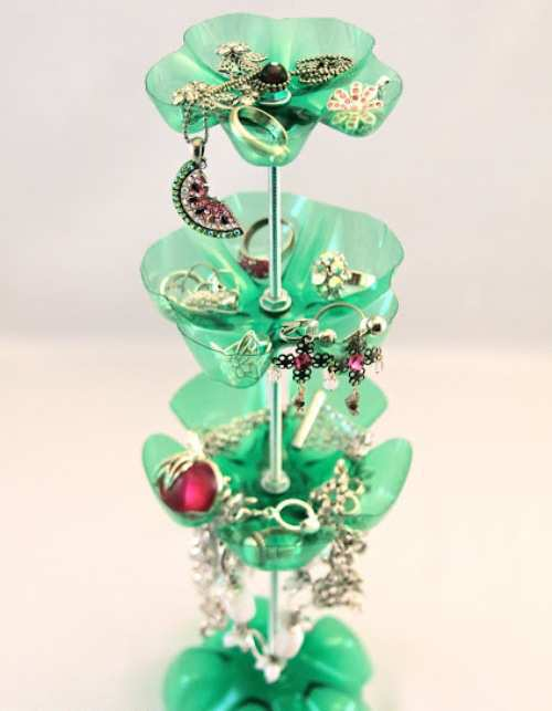 Upcycled-Soda-Bottle-Jewellery-Stand