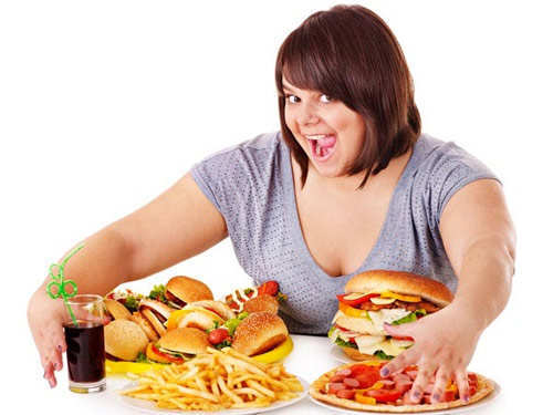 woman-with-fast-food