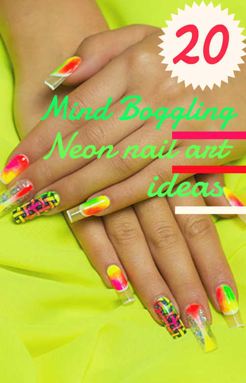 20 mind boggling neon nail art ideas neon nail art prinsesfo Choice Image