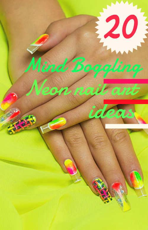 Neon-Nail-Art