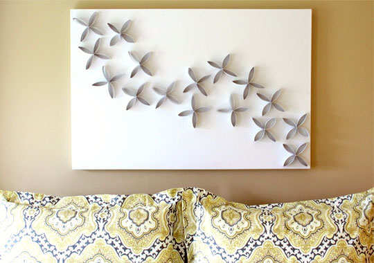 DIY Chic Wall Hanging Made Of Toilet Paper Roll