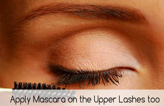 unconventional-makeup-tips-apply-mascara-on-upper-lashes