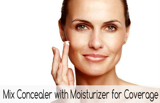 unconventional-makeup-tips-mix-concealer-with-moisturizer