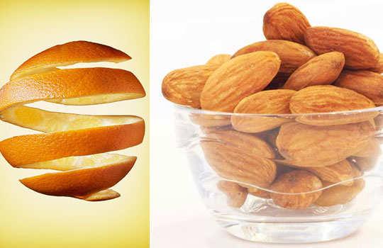 skin-blemishes-home-remedies-orange-peel-almonds