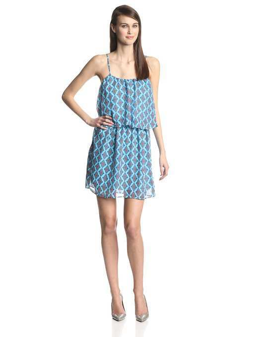4678fcfedb2c Olive & Oak Women's Chiffon-Print Layered Dress. blue-sundress-amazon-1