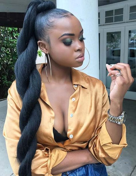 twisted sleek ponytails fr women