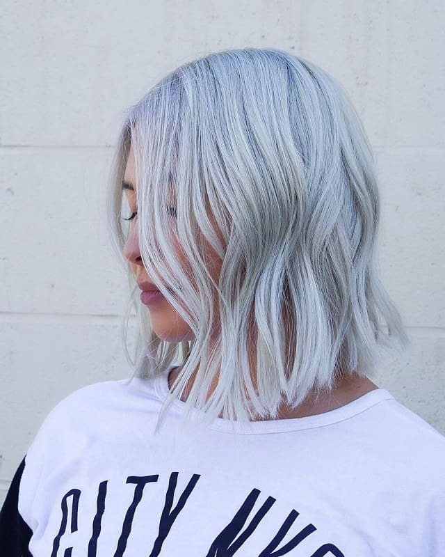 icy blonde hair for women with tan skin