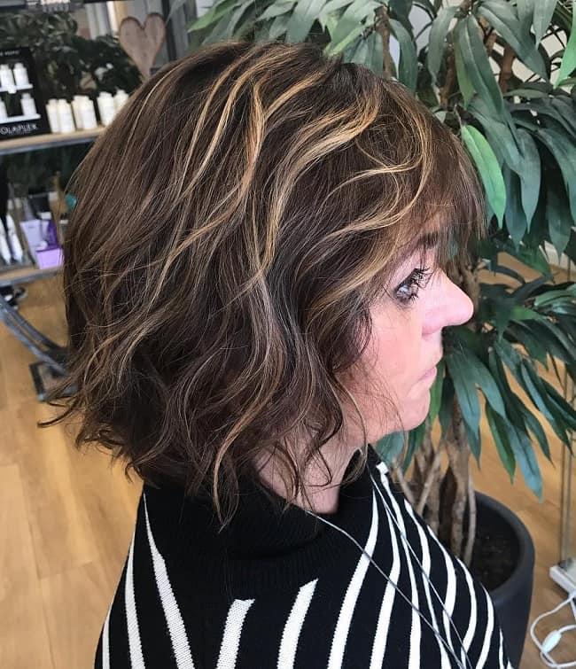 shaggy bob for fine hair over 50