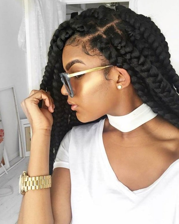 dookie braids with side part