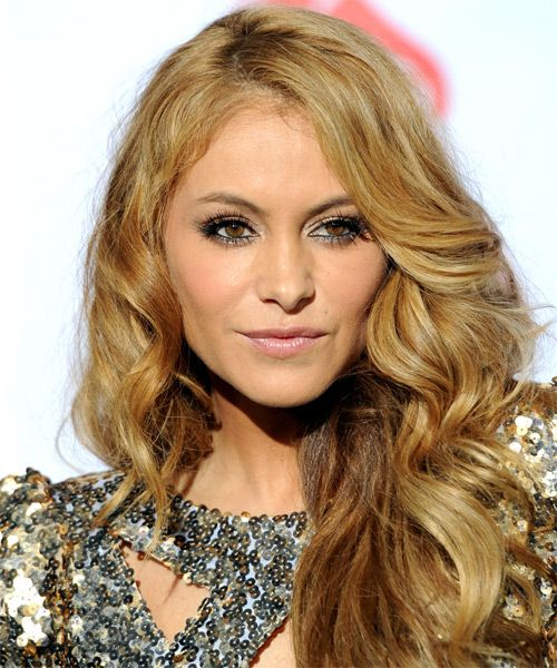 Paulina Rubio with blonde hair