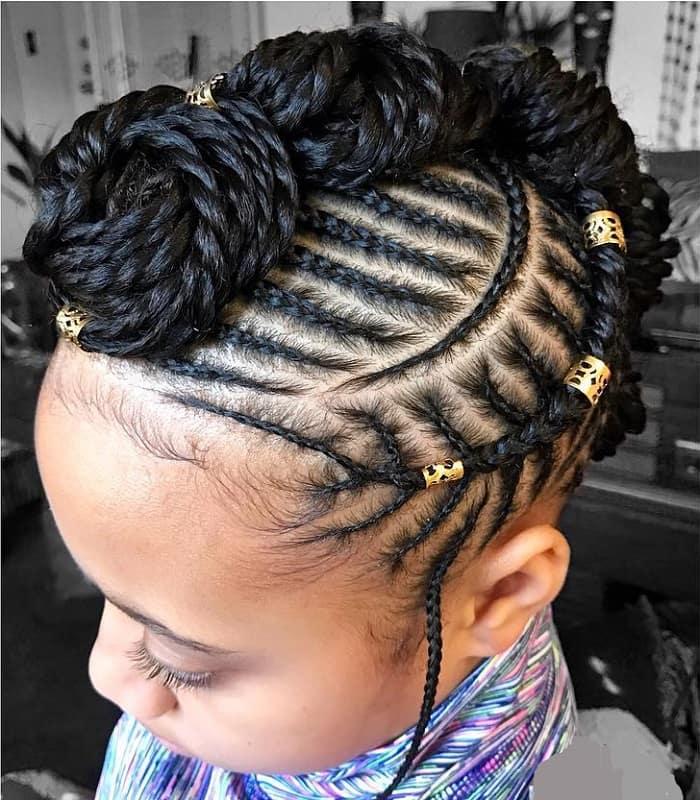cornrow braided Mohawk hairstyles